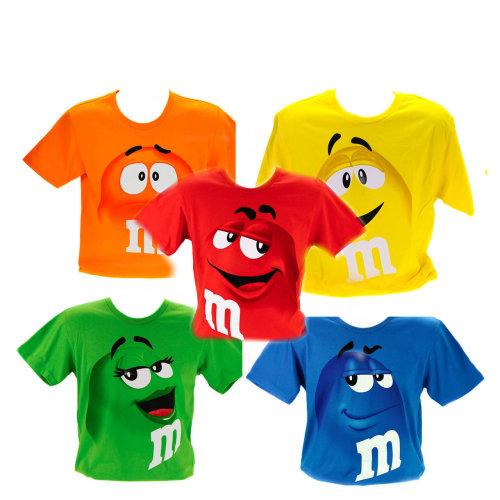 Novelty Kids T-Shirt - M&M's Chocolate Candy