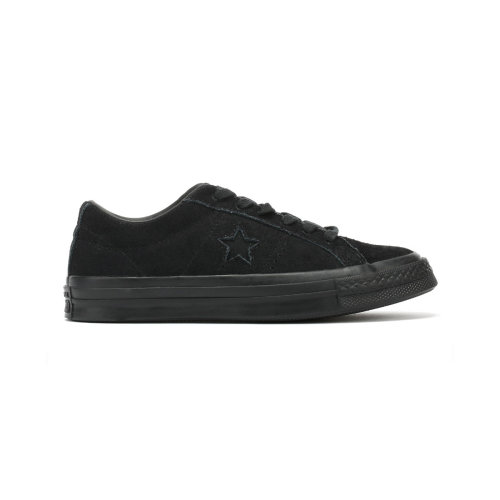 Converse One Star Youth Black Vintage Suede Ox Trainers