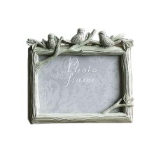 6-inch Photo Frame Bird Resin Creative Photoframe and Home Decoration, Green