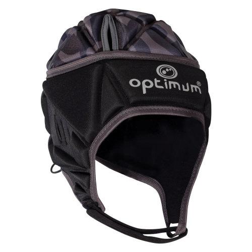 Optimum Razor Kids Rugby Headguard Scrum Cap Black/Silver
