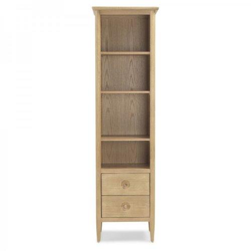 Stockholm Oak Furniture Slim Bookcase