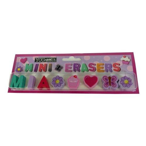 Childrens Mini Erasers - Mia