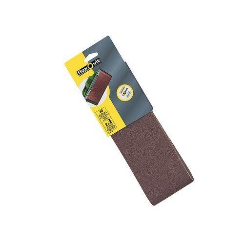 Flexovit 63642526474 Cloth Sanding Belts 560mm x 100mm 80g Medium Pack of 2