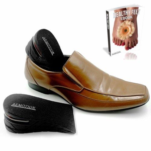 Height Increasing Insoles Elevator Shoe Lift Kit, Adjustable Heel Lift Insert Wedge to 6cm (2.4 inch), Orthotic Insoles Shock Absorbing Heel...