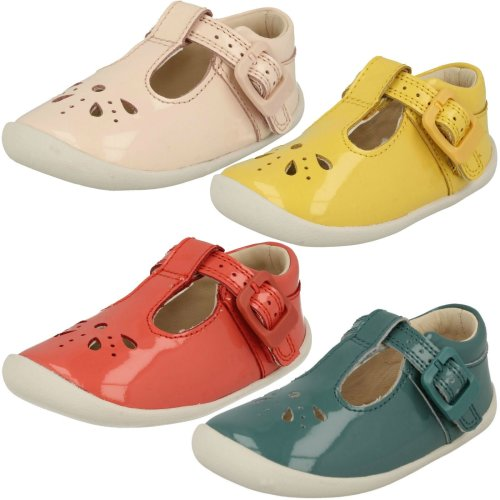 GIRLS CLARKS CRUISING SHOES IDA SPARKLE RASPBERRY FITTING S AVAILABLE F,G /& H