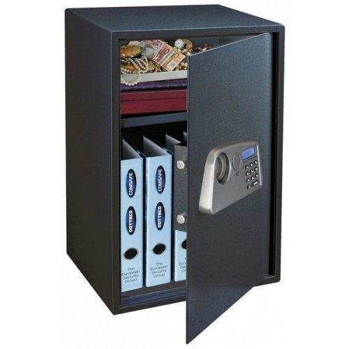 Safe Home Office Security Electronic Lock Black Rottner Trendy 4