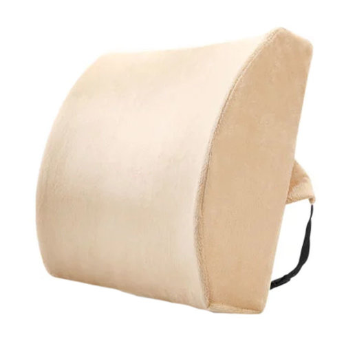 Lumbar Support Back Cushion Pillow Backrest for Home/Office/Car Seat - Camel