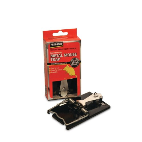 Pest Stop Easy Set Metal Mouse Trap (Pack of 12)