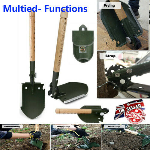 18in1 Multi-Function Alloy Steel Folding Shovel Camping Emergency Tool