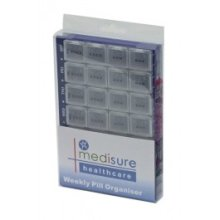 28 Compartment Weekly Medisure Pill Organiser - Compartments Small Box 4 7 Days -  pill organiser 28 weekly medisure compartments small box 4 7 days