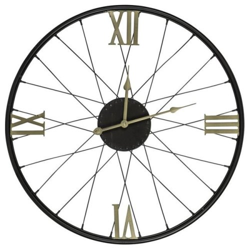Cooper Classics 40713 20.5 x 20.5 x 1 in. Dedon Clock with Gold Numbers, Black