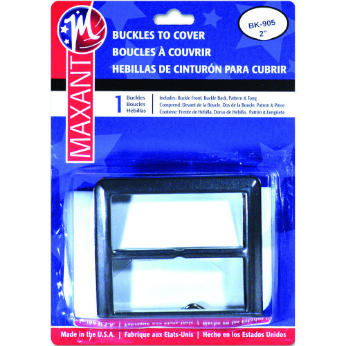 "Maxant Button Buckle Cover Kit-2"" Square"