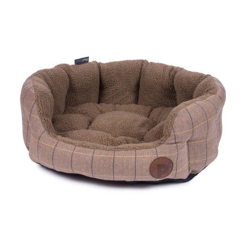 4febfa666295 Petface Tan Tweed Oval Dog Bed, X-Large on OnBuy