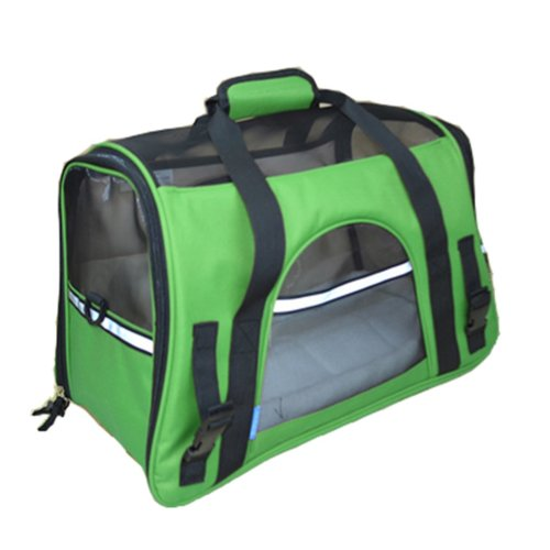 Pet Carrier Soft Sided Travel Bag for Small dogs & cats- Airline Approved? Green
