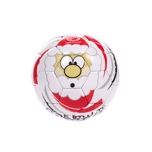 Optimum Christmas Santa Mini Football Soccer Ball White