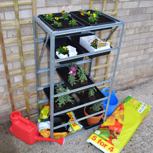 Steel Staging Tray Shelves for Greenhouse Garden Patio Shed