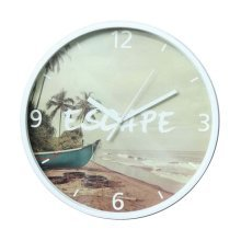 [M] 11 Inch Modern Wall Clock Decorative Silent Non-Ticking Wall Clock