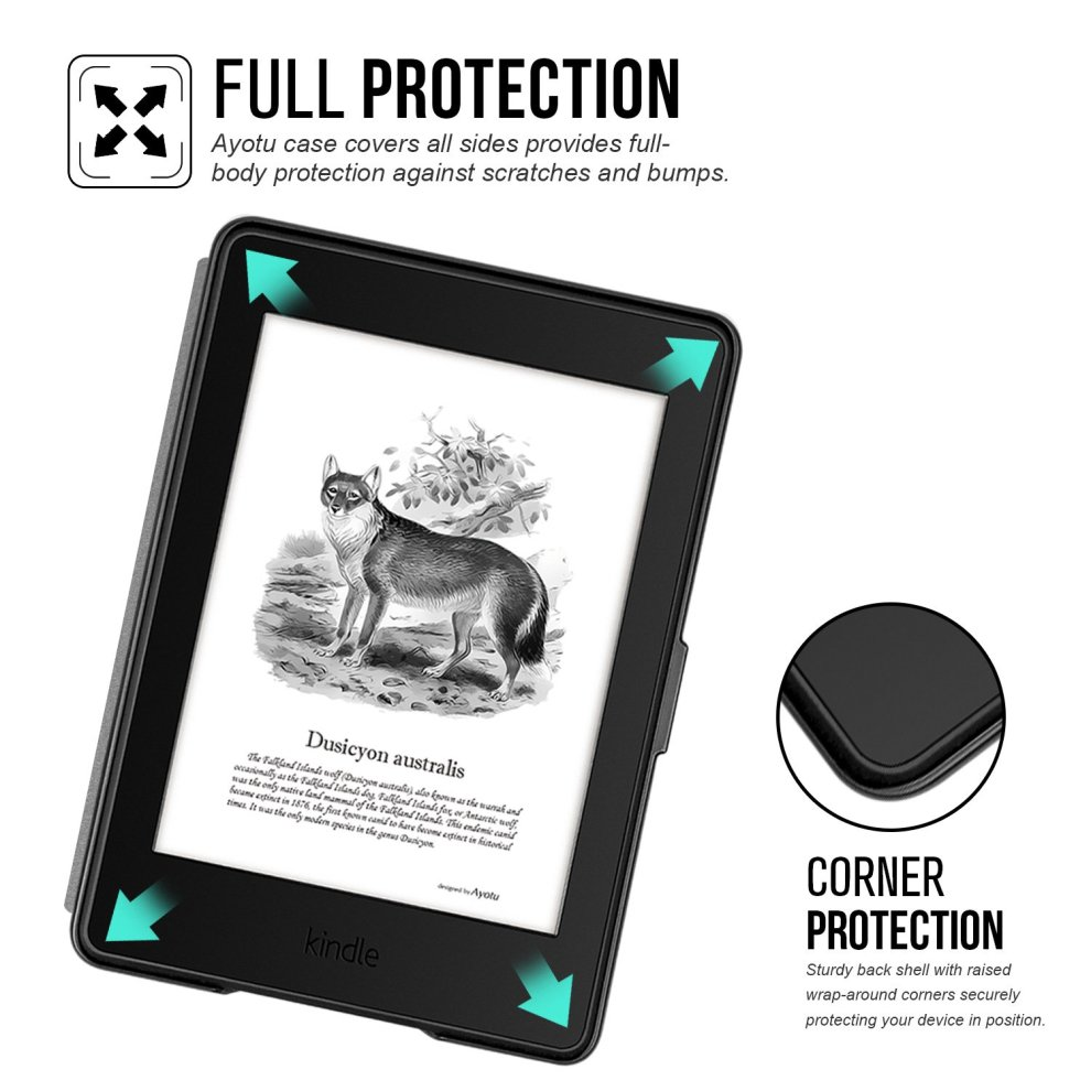 Ayotu Colorful Case for Kindle Paperwhite E-reader Auto Wake/Sleep