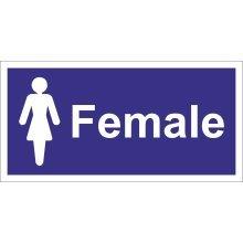 Ladies Symbol Self Adhesive Vinyl 200mm x 100mm -  castle promotions self adhesive x 100mm 200mm sign vinyl female toilet ladies ss030sa