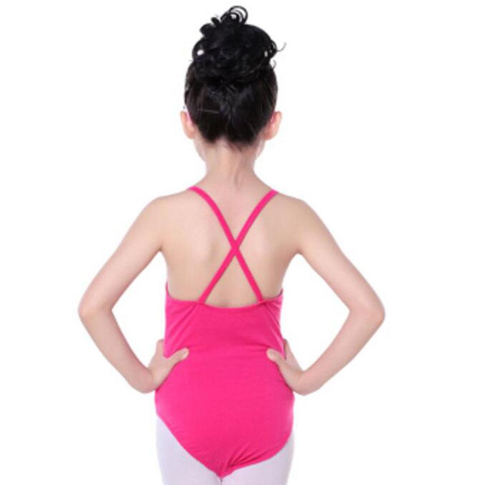 34fd1fd821e8 Cotton Gymnastics Leotards for Girls Leotard Dance Costumes Sportswear Rose  Red ...