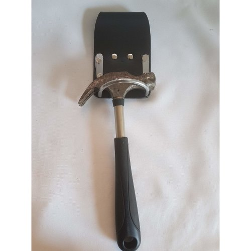 Black Leather Steel Hammer Holder Steel Saddle for Scafffolding Tool Belt