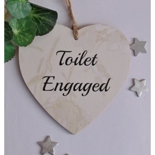 Toilet Engaged /Vacant  Double-sided door plaque