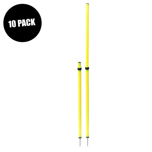 Sports Training Agility Telescopic Slalom Poles 90cm-170cm (10 Pack)