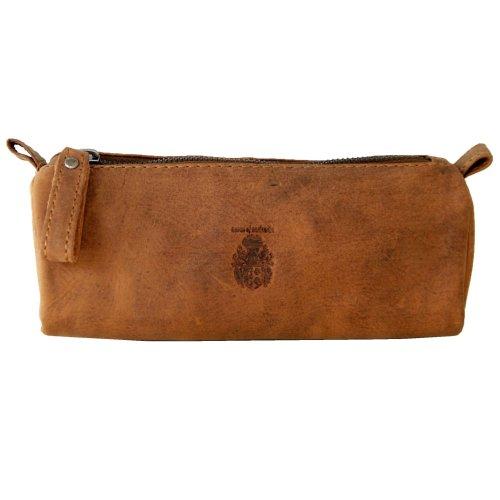 BARON of MALTZAHN Large pencil case Pins wallet Makeup bag EPICURUS leather brown