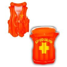 Inflatable Lifeguard Vest - Jacket Watch Float Beach Pool Student Fancy Dress -  inflatable lifeguard jacket vest watch float beach pool student