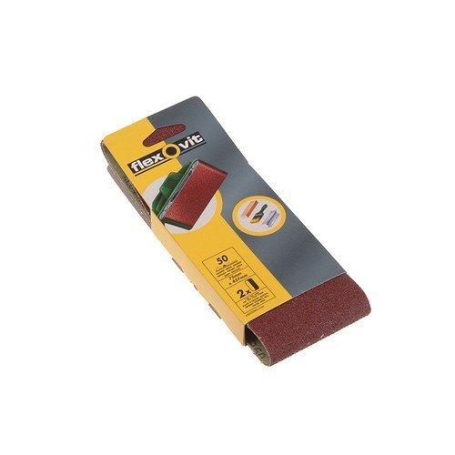 Flexovit 63642526463 Cloth Sanding Belts 75mm x 457mm 80g Medium Pack of 2