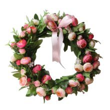 Artificial Wreath Hanging Floral Garland Door Wreath Wedding Decor #02