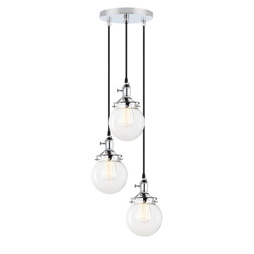 Pathson Modern Vintage Loft Bar Edison Ceiling Pendant Lights Ing Cer Multi Switch Chandelier Gl Globe Lampshade 3