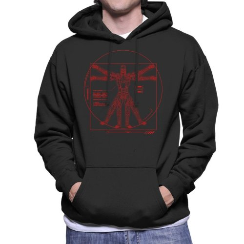 Terminator Vitruvian T800 Men's Hooded Sweatshirt