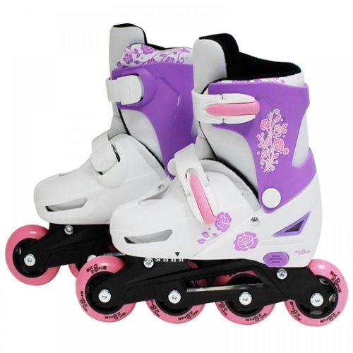 SK8 Zone Girls Pink Roller Blades Inline Skates Adjustable Size Pro Skating New[Small 9-12 (27-30 EU)]