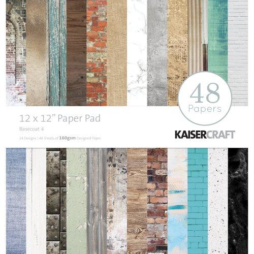 "Kaisercraft Paper Pad 12""X12"" 48/Pkg-Basecoat"