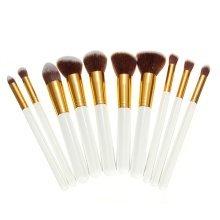 10Pcs Persian Wool White Makeup Brush Set