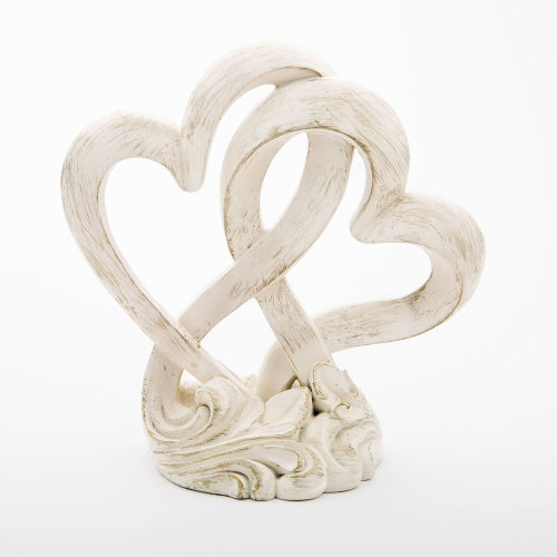 Vintage Style Double Heart Design Cake Topper, Centerpiece
