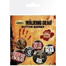The Walking Dead Phrases Badge Pack