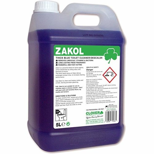 Clover ZAKOL ACIDIC TOILET CLEANER DESCALER Removes Stains Scale Kills Bacteria
