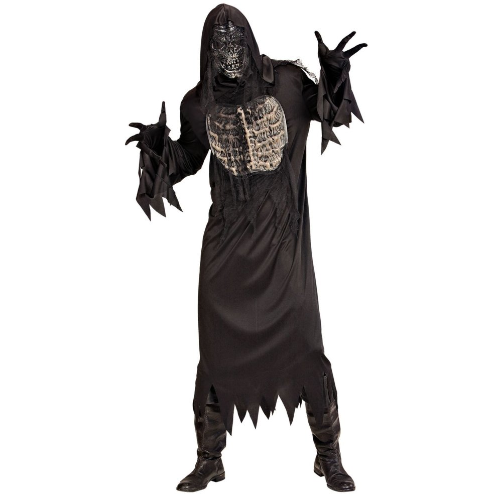 Ghoul (m) - ghoul man fancy dress costume black robe mask