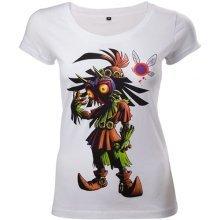 Legend Of Zelda Majoras Mask Womens Skinny T-Shirt Large White - TS221212ZEL-L