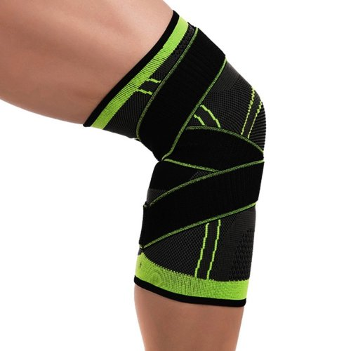 Knee Brace Compression Sleeve with Adjustable Strap Professional Protective Knee Support Pad Breathable Protector 3D Weaving