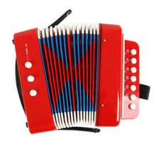 Kid's Toy Instrument /Kid's Accordion For Both Boys and Girls ,Red