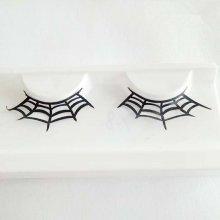 1 Pair Art Paper Cutting False Eyelashes Spider Halloween Party Makeup