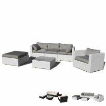 Polyrattan garden sofa outdoor lounge SANTA MONICA