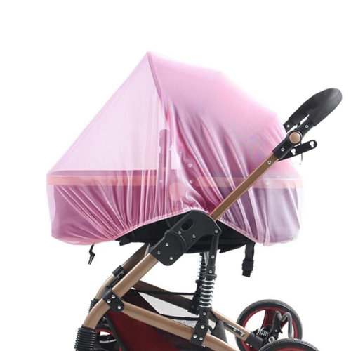 Soft Insect Netting Mosquito Nets for Baby Strollers & Cribs Cover- Pink