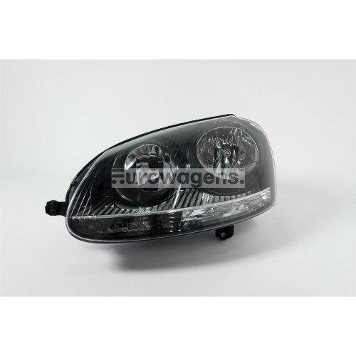 Headlight left black VW Golf MK5 03-07