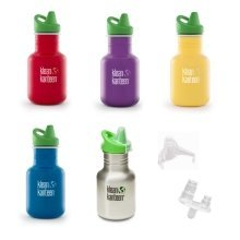 Klean Kanteen Kids Stainless Steel drinks bottle 12oz/355ml Sippy Cap and spares