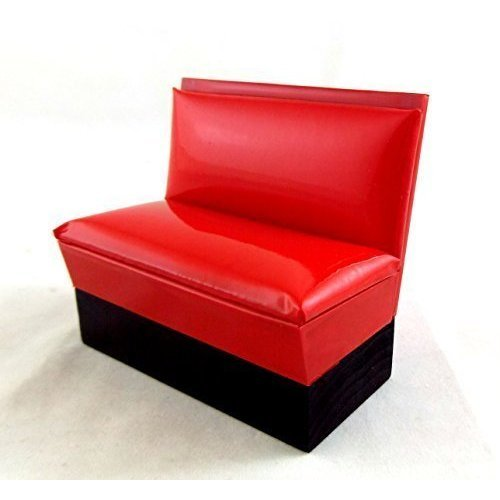 Dollhouse Miniature 1 12 Scale 1950s RED Booth Bench T5900