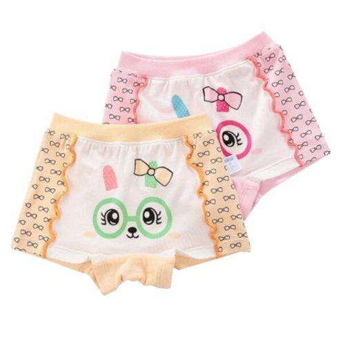 2 PCS Little Girls Comfortable Panties Cartoon Rabbit Underwear